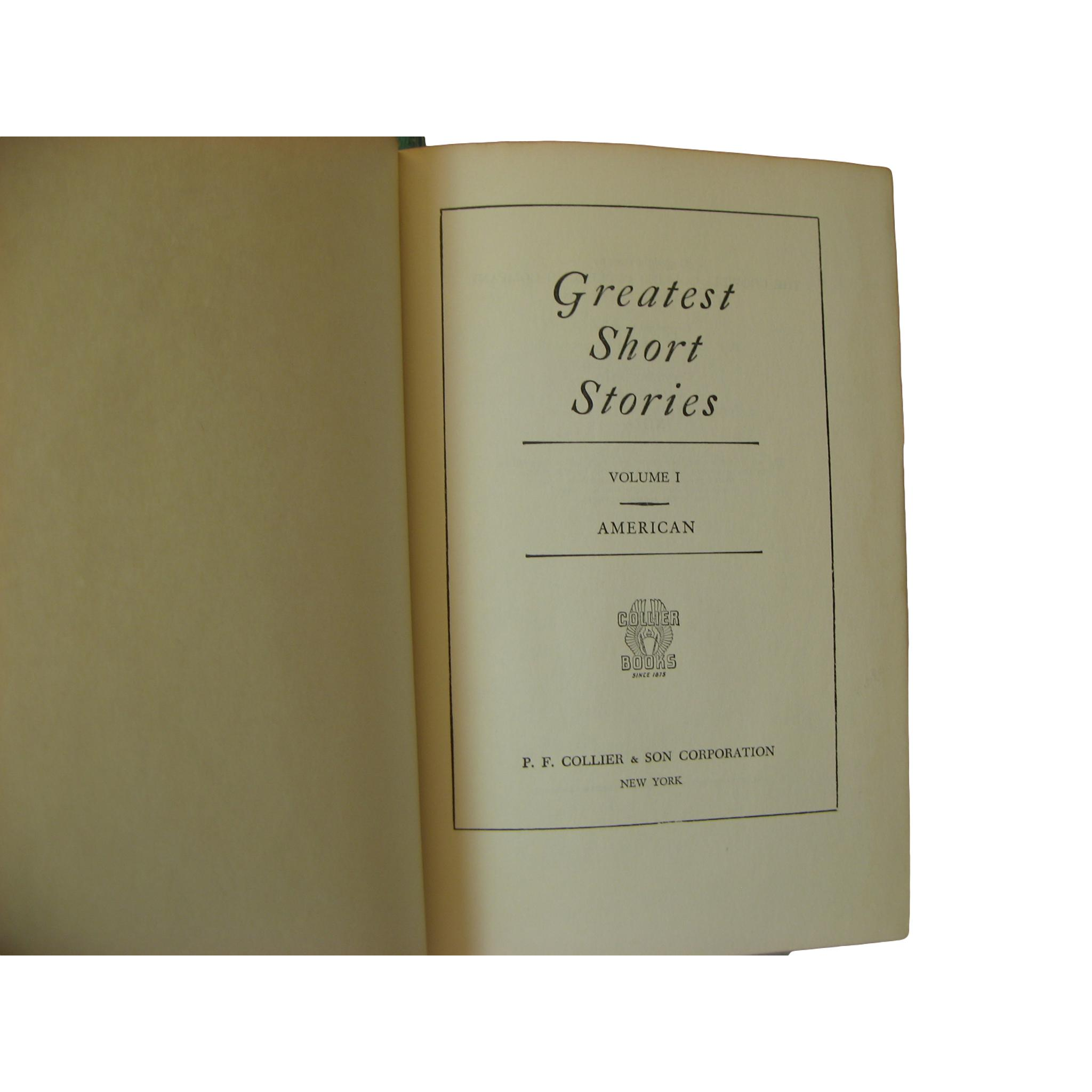 Decorative Book Stack of Greatest Short Stories for Shelf Decor, S/6