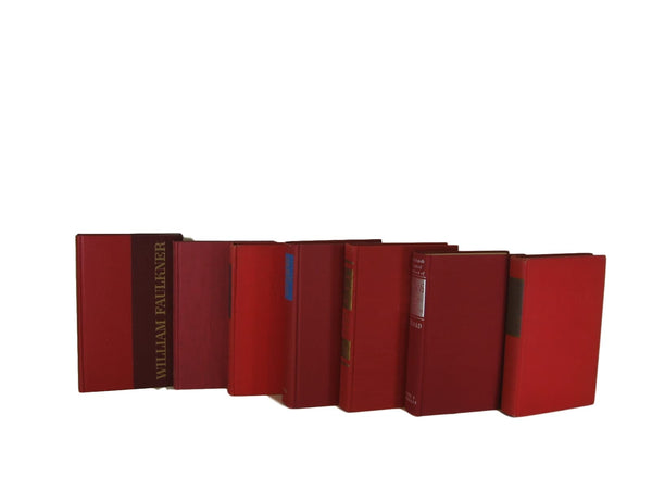 red decorative book for home decor, bookshelf decor