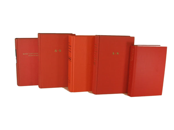 orange books by color