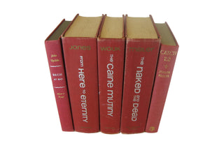 Decorative Books in  Red for Home Decor, S/5 - Decades of Vintage