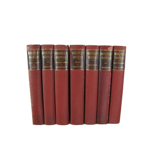 Antique Waverley Novels, Decorative Book Stack for Home Decor, S/7 - Decades of Vintage