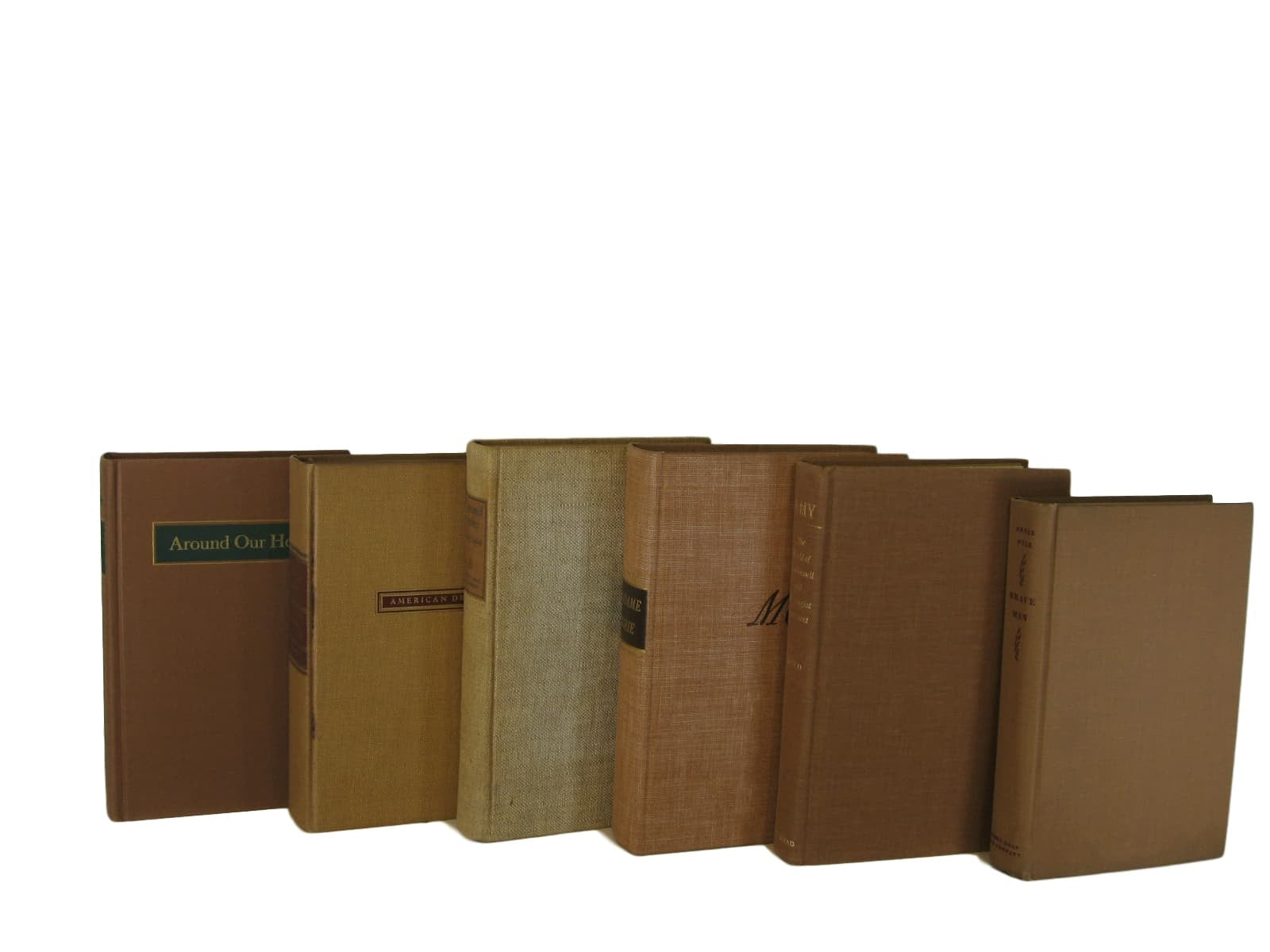 Brown Vintage Books  for Decor, S/6 - Decades of Vintage