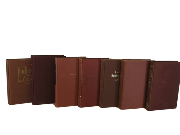 Brown Decorative Books, S/7 - Decades of Vintage