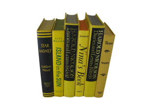 Yellow Book Decor, S/6, [decorative_books], Decades of Vintage