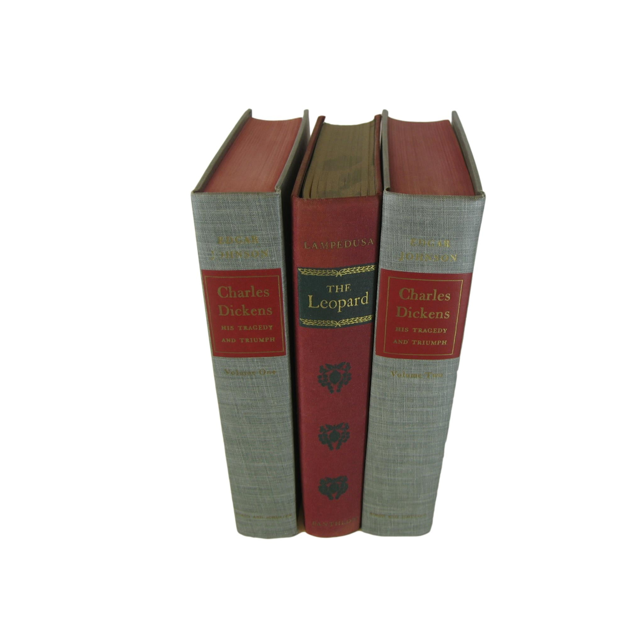 Decorative Books Stack including Charles Dickens, S/3 - Decades of Vintage