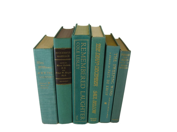 Green Set of Decorative Books, S/6 - Decades of Vintage