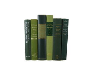 Green Books for Farmhouse Decor, S/6 - Decades of Vintage