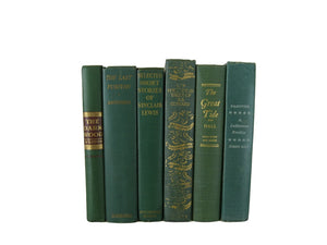 Green Vintage Book Decor, S/6 - Decades of Vintage