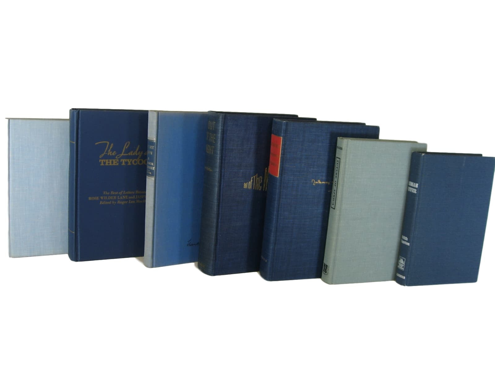 Blue  Vintage Book Decor, S/7 - Decades of Vintage