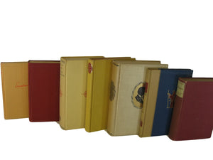 Farmhouse Decorative Book Stack in Reds and Yellows, S/7 - Decades of Vintage