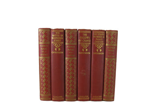 Decorative  Book Stack in Red, S/6 - Decades of Vintage