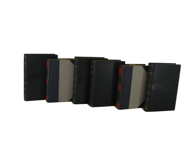 Decorative  Book Stack in Black, S/6 - Decades of Vintage