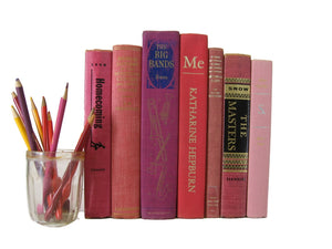Decorative Books, Vintage Books, Books by the Foot, Books by color, Decades of Vintage