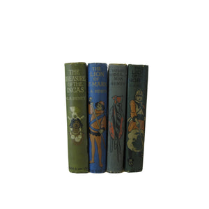 Antique G. A. Henty Decorative Book Stack, S/4 - Decades of Vintage