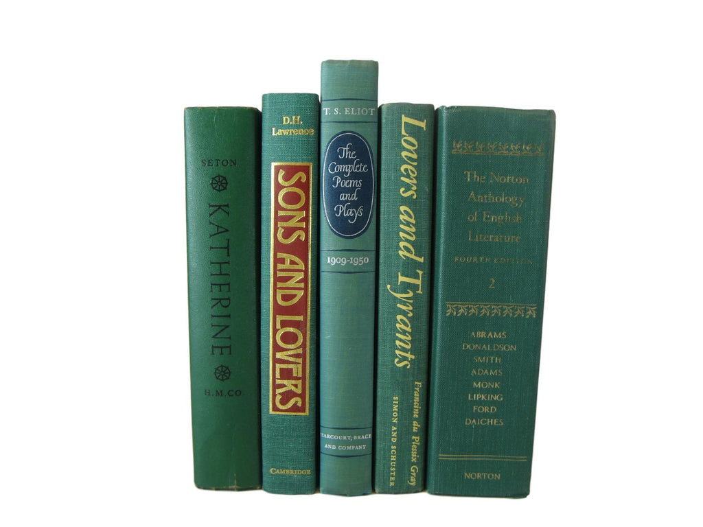 Green Books for Shelf Decoration, S/6 - Decades of Vintage