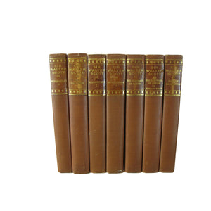 Antique Decorative Books, The Waverley Novels by Sir Walter Scott, S/7 - Decades of Vintage