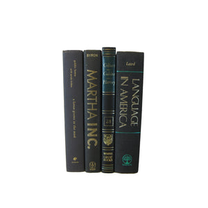 Black Books for Bookshelf Display, S/4 - Decades of Vintage