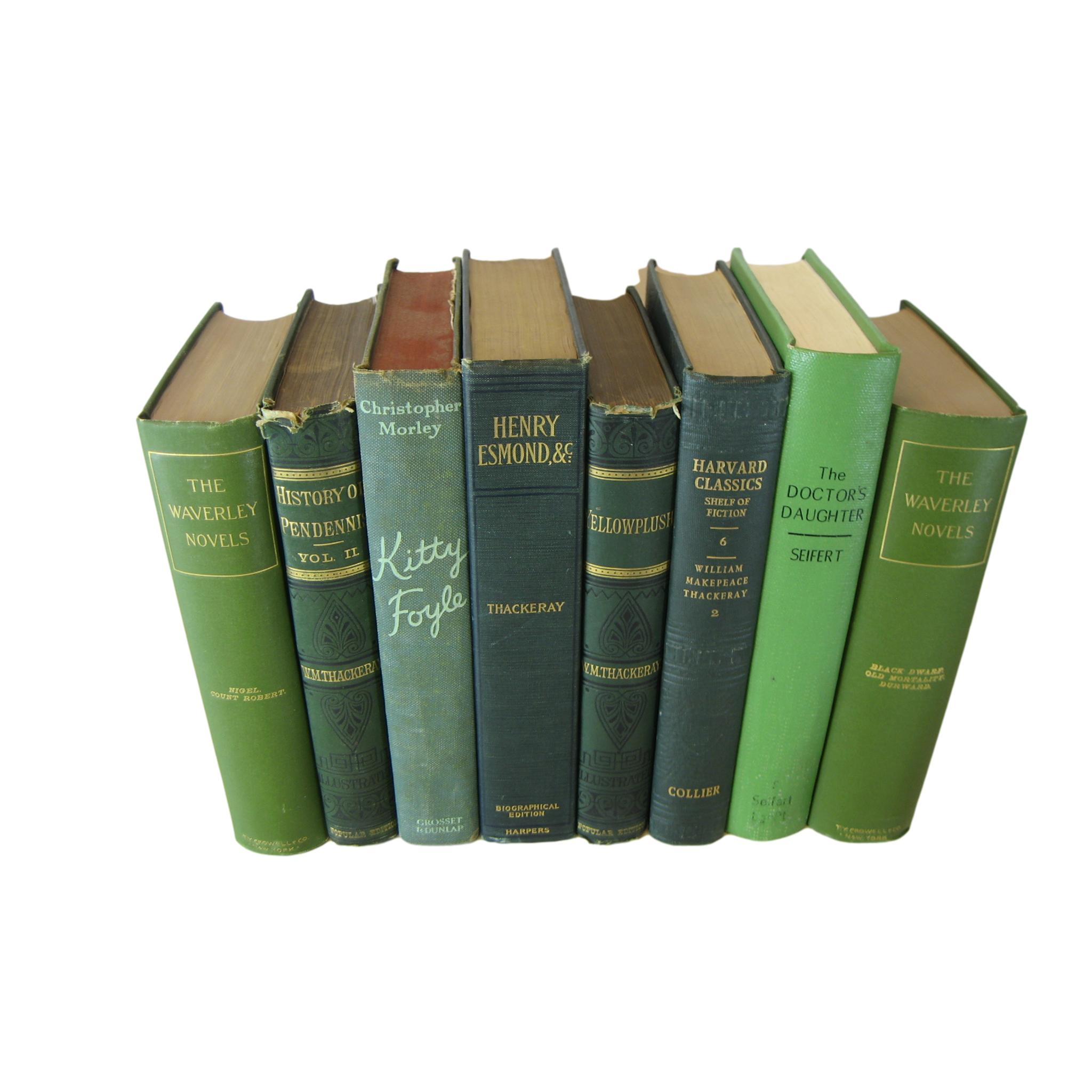 Decorative Book Set of One Foot in Green, S/8 - Decades of Vintage
