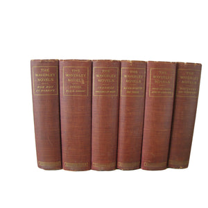 Antique Decorative Books, The Waverley Novels by Sir Walter Scott, S/6 - Decades of Vintage