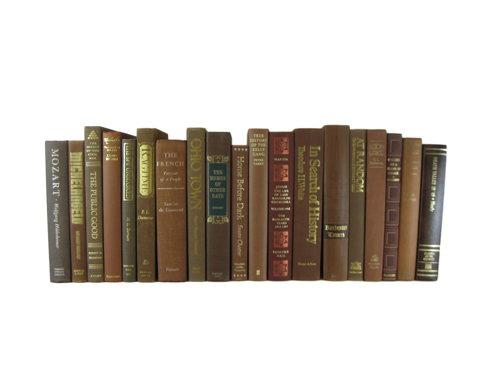 Brown Decorative Books for Display Sold by the Foot - Decades of Vintage