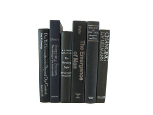 A Set of Black Vintage Books for Decor, S/6 - Decades of Vintage