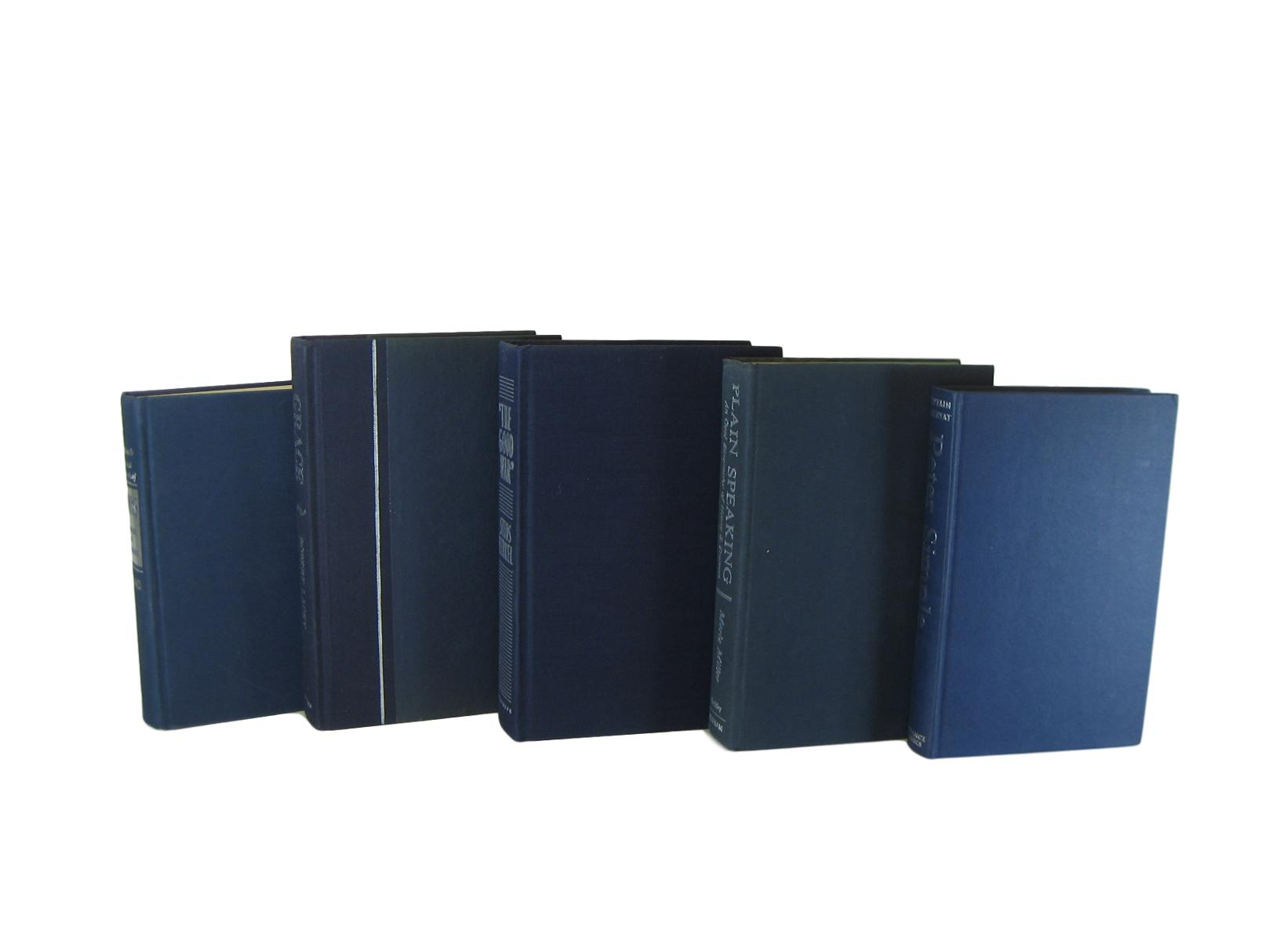 Blue  Decorative Books for Home Decor, S/5 - Decades of Vintage