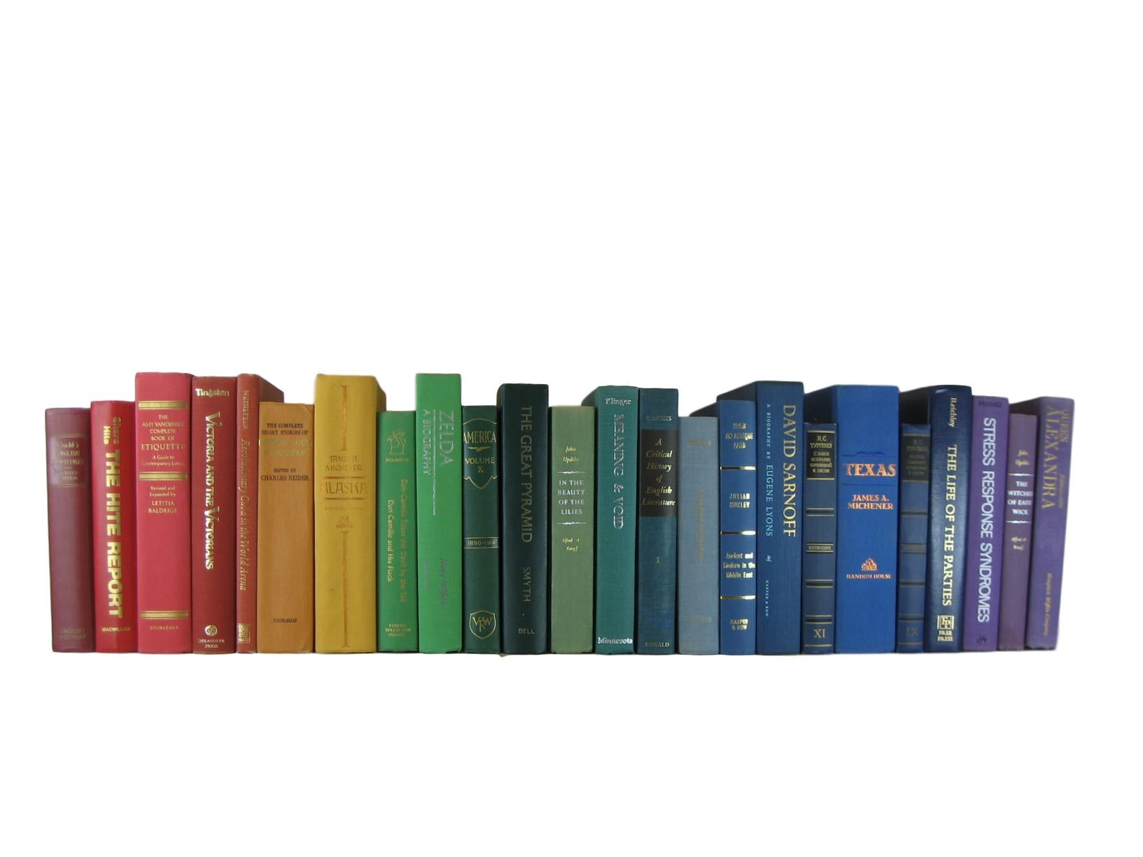 Rainbow Shades of Decorative Books by the Foot