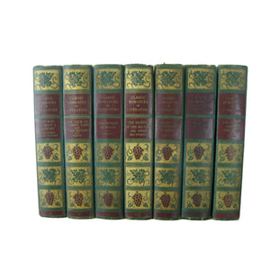 Green and Blue Book Decor for Bookshelf Display, S/5 - Decades of Vintage