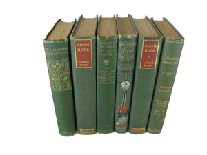 Decorative Books for Display in Green, S/6 - Decades of Vintage