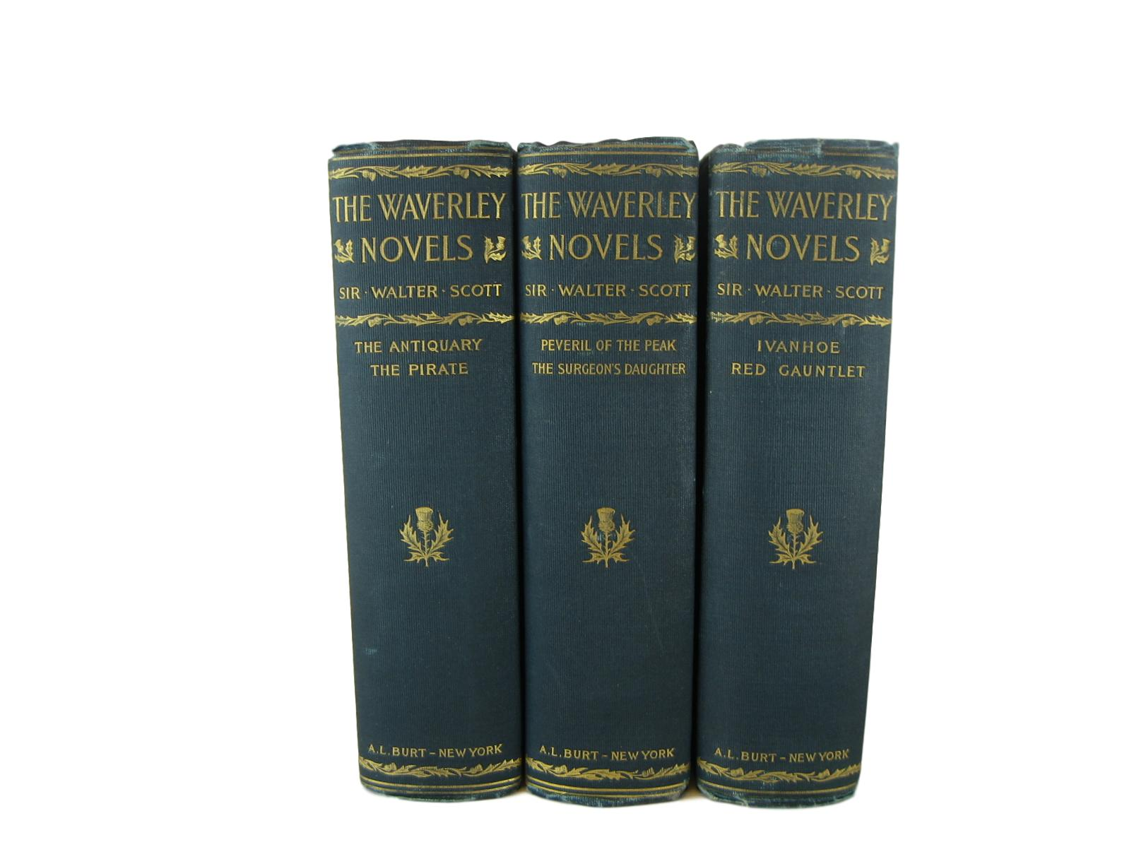 The Waverley Novels by Sir Walter Scott for  Home Decor for Book Lovers, S/3 - Decades of Vintage