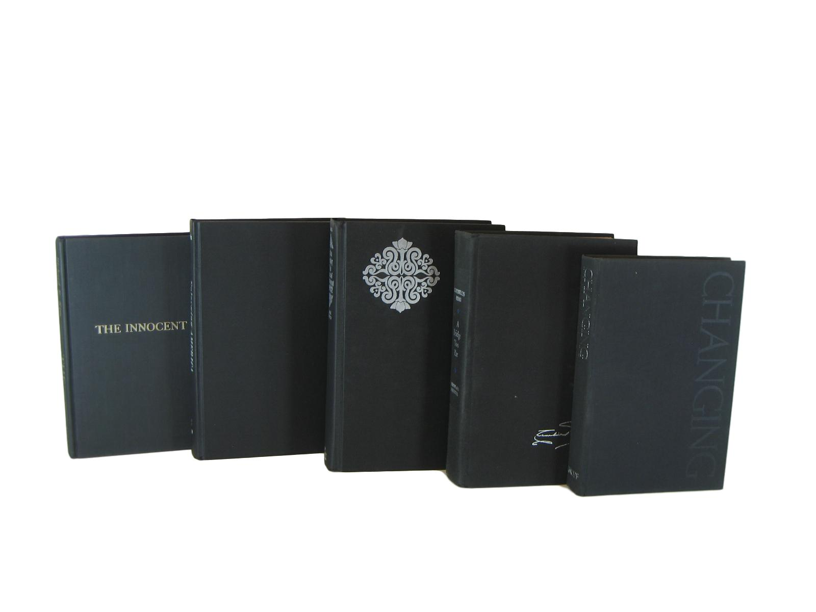 Black  Decorative Books for Mantel Decor, S/5 - Decades of Vintage