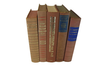 Brown Books for Decor, S/5 - Decades of Vintage