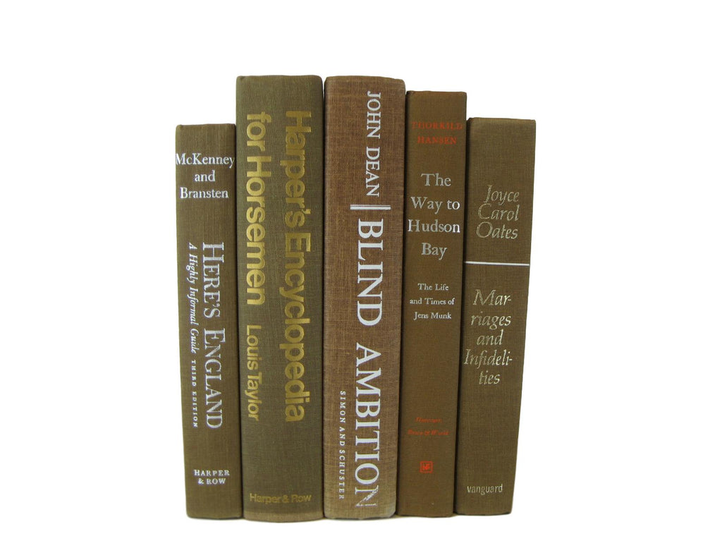 Decorative Books for Shelf Decor , S/5 - Decades of Vintage
