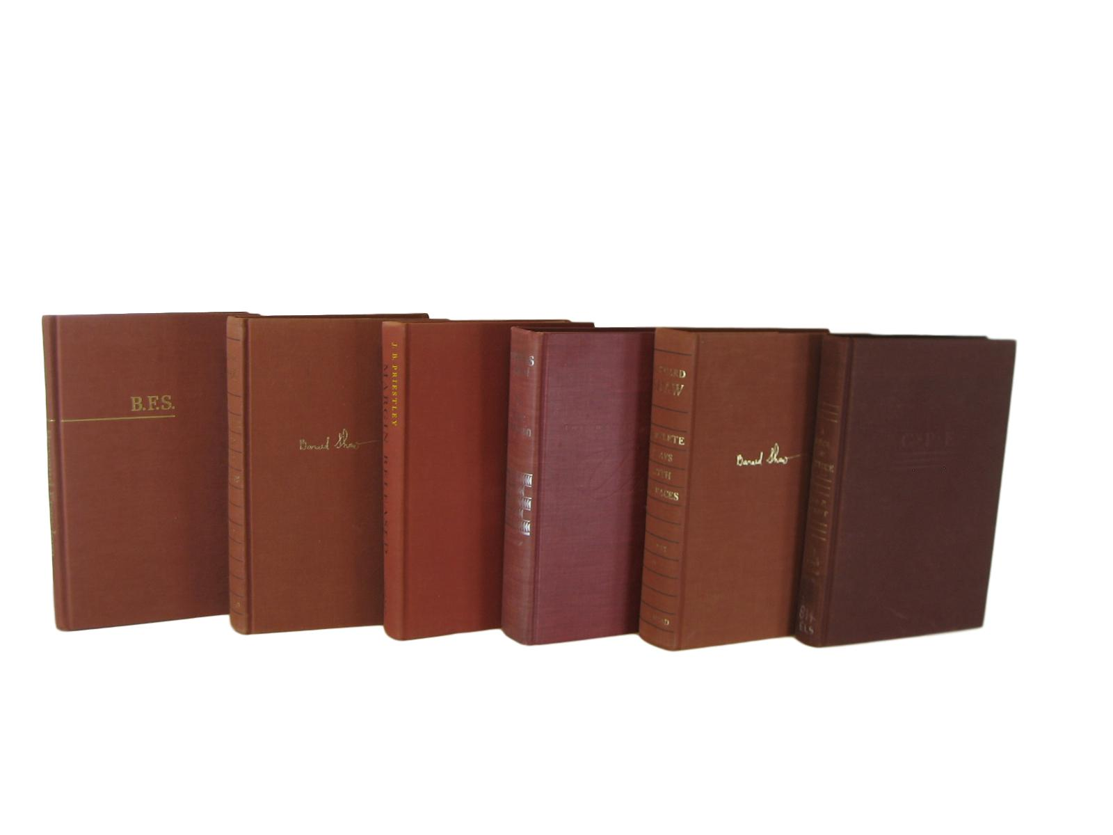 Rust Brown Vintage Decorative Books for Home Decor, S/6 - Decades of Vintage
