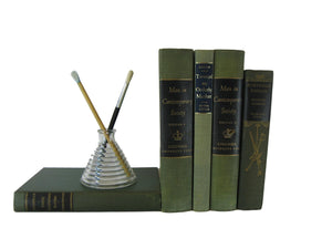 Green  Decorative Books for Decor Curated with Vintage Books, S/5 - Decades of Vintage