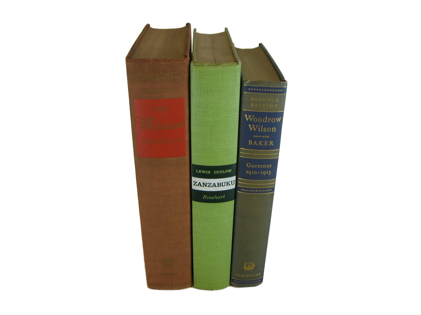 Vintage Decorative Book Accent Set in Green and Earth-tone - Decades of Vintage