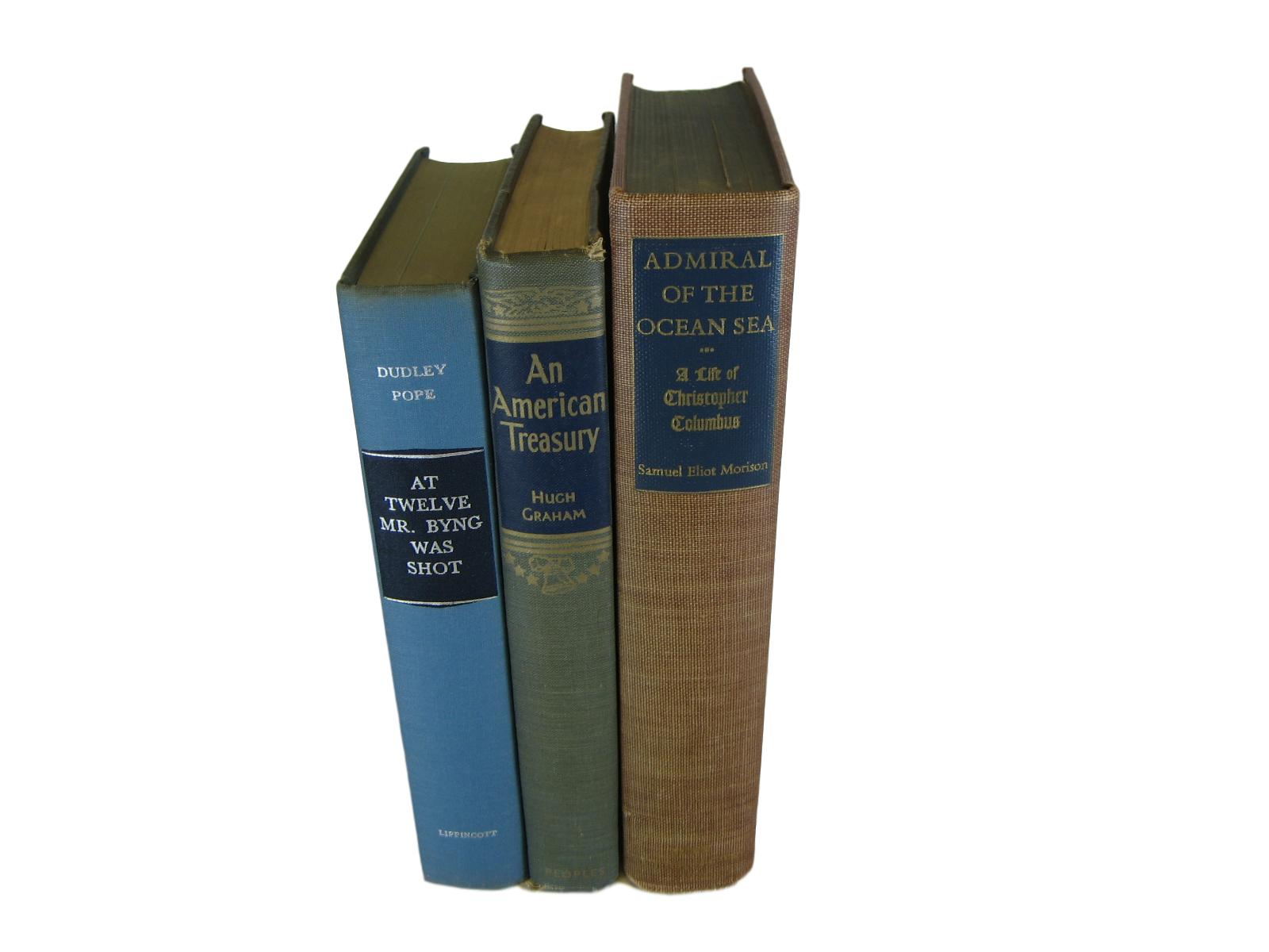 Blue and Brown Home Decor for Book Lovers - Decades of Vintage
