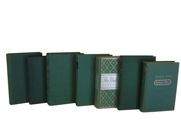 Green Decorative Books, S/7 - Decades of Vintage