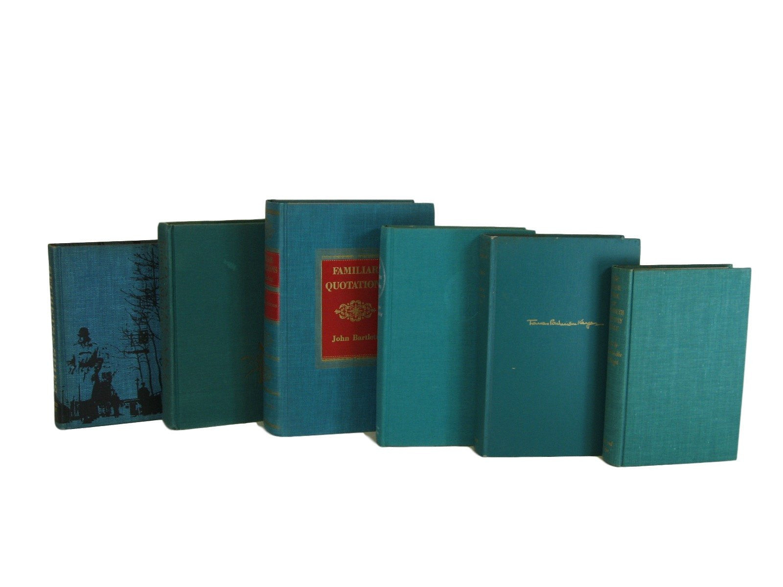 Green Vintage Books for Home Decor, S/6 - Decades of Vintage
