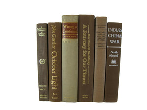 Brown Decorative  Books by Color  with Vintage Books, S/6, [decorative_books], Decades of Vintage