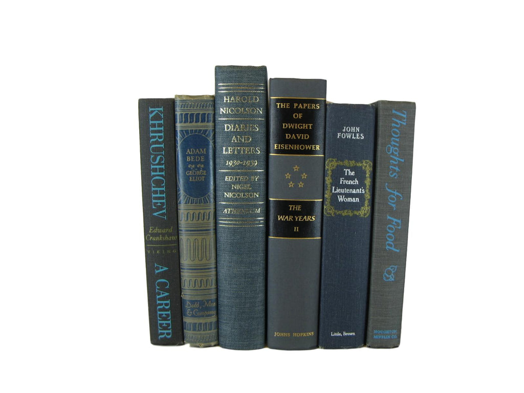 Gray Decorative Books for Home Decor, S/6