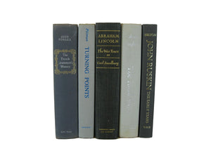 Gray Decorative Vintage Books for Display, S/5