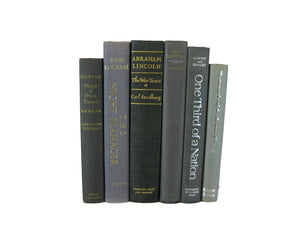 Gray Vintage Books, S/6