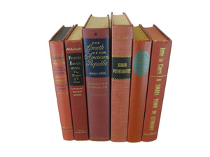 Brick brown  Rust Orange  Vintage Book Set, S/6 - Decades of Vintage