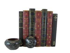 Vintage Decorative Books for Decoration in Black and Red