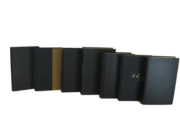 Black Decorative Books, S/7 - Decades of Vintage