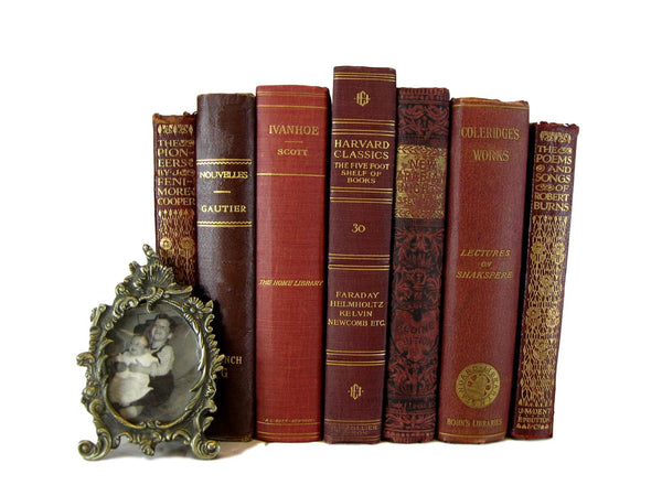 Yellow Gold Decorative Vintage Book Set, S/5 - Decades of Vintage