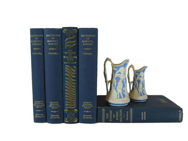 Blue Decorative Vintage Book Set, S/5 - Decades of Vintage