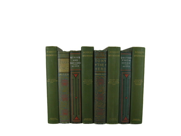 Green Collection of Decorative Books, S/8 - Decades of Vintage