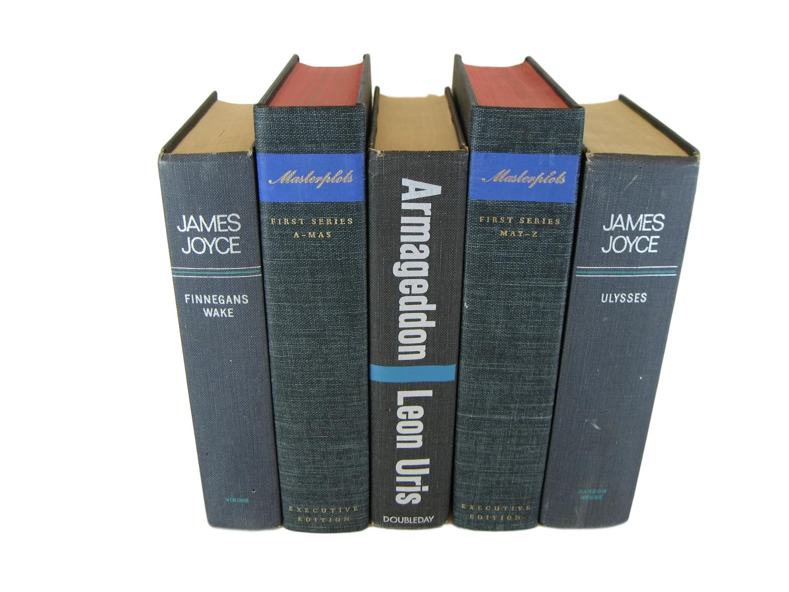 Gray Decorative  Books for Bookshelf Ideas, S/5 - Decades of Vintage